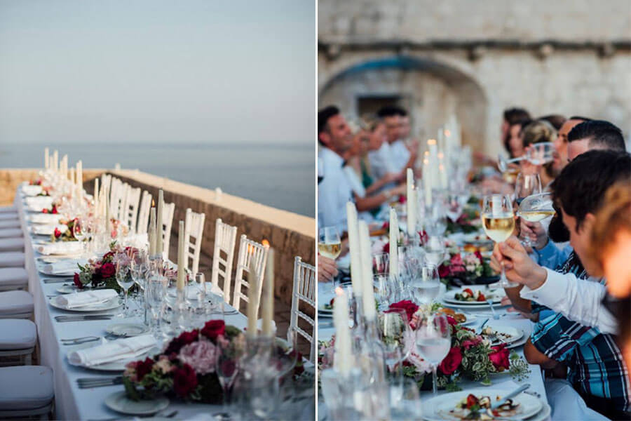 Dubrovnik event weddings reception decorations 01