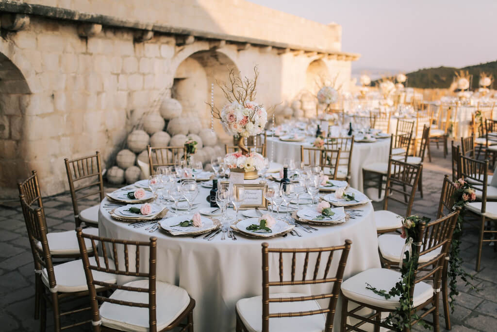 Dubrovnik event weddings reception decorations 13