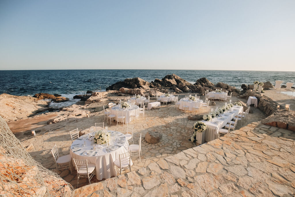 Dubrovnik Event Weddings Sorcha and Dan's Dubrovnik Wedding Reception Venue, Vala Beach Club
