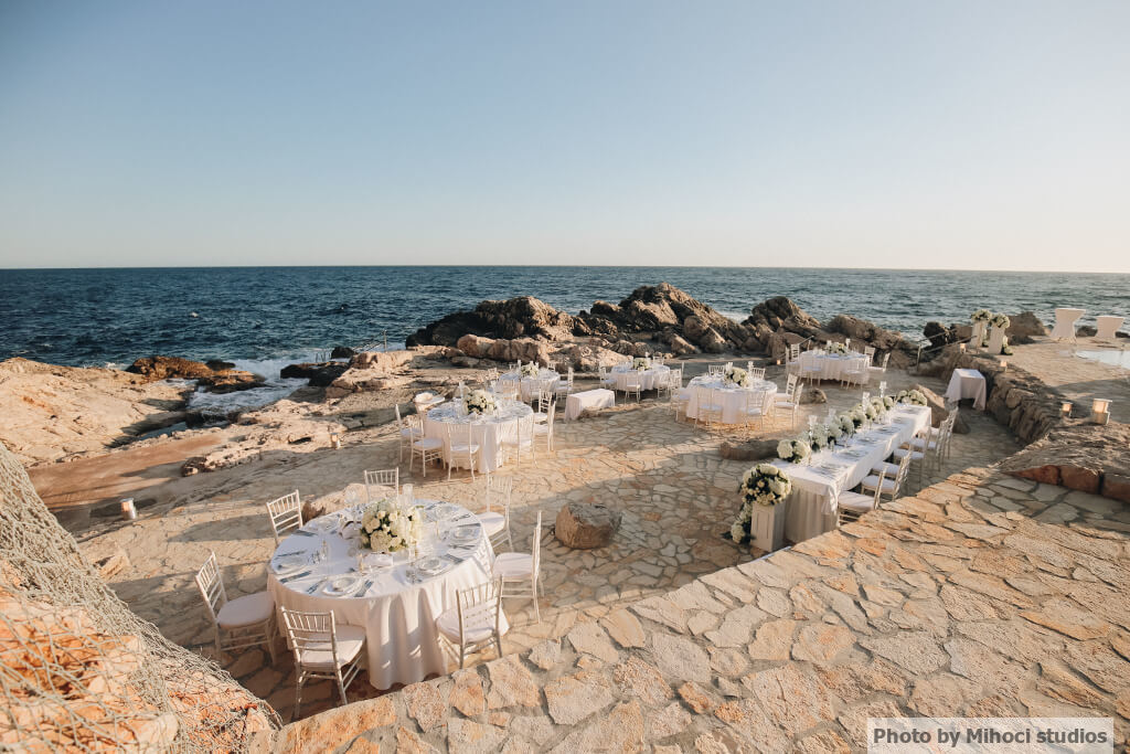 Dubrovnik Event Weddings Sorcha and Dans Dubrovnik Wedding Reception Venue Vala Beach Club